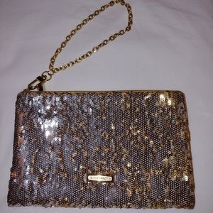 BCBGMAXAZRIA GOLD SEQUIN BAG